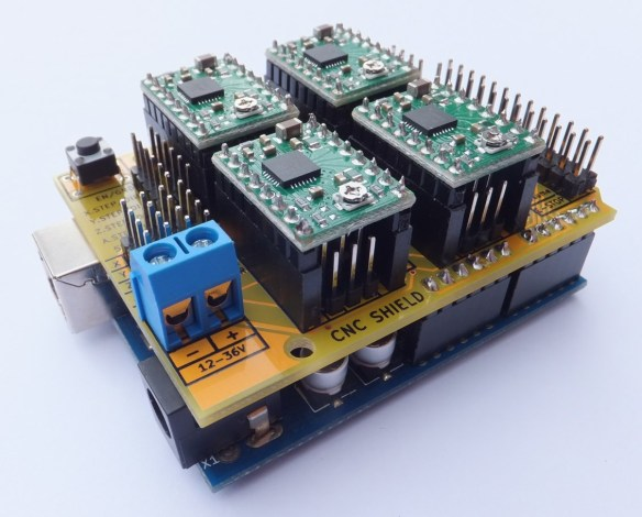Arduino CNC Shield V3 Arduino CNC Shield   100% GRBL Compatable