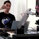 Building a robot arm that mimics your gestures.