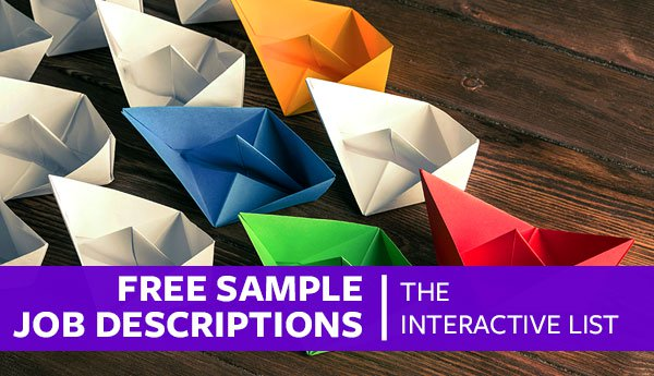Free Sample Job Descriptions The Interactive List \u2013 Proven