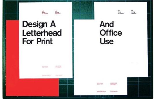 5 Letterhead Design Tutorials - a letter head