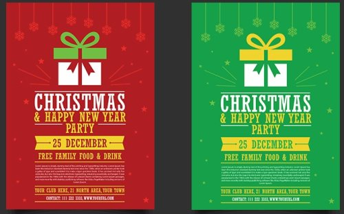 25 Beautiful Christmas Design Freebies - design a flyer free
