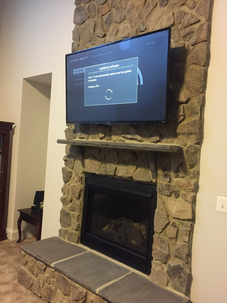 Television Over Fireplace Design Mounting A Tv On Brick Fireplaces The Do S Don Ts
