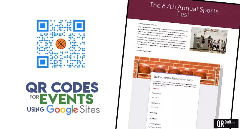 QR Codes For Event Sign-Up Pages - QRStuff