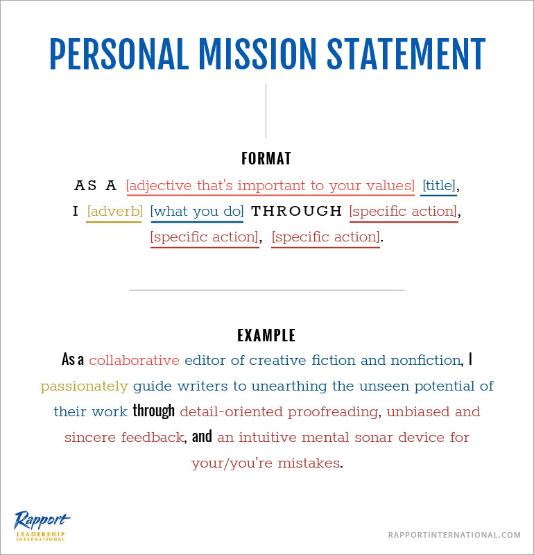 How to Write a Personal Mission Statement That RESONATES