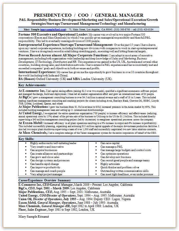 conflict resolution resume sample