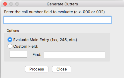 Generate Sanborn Cutters Mac