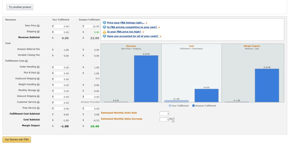 How Monitoring the Amazon FBA Calculator Can Generate More - product pricing calculator