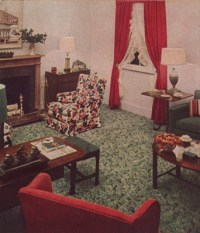 1940s Decorating: Colors, Fabrics, Flooring, Decor and more