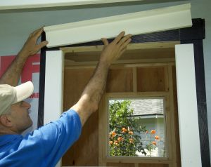Shed Window Trim with PVC boards