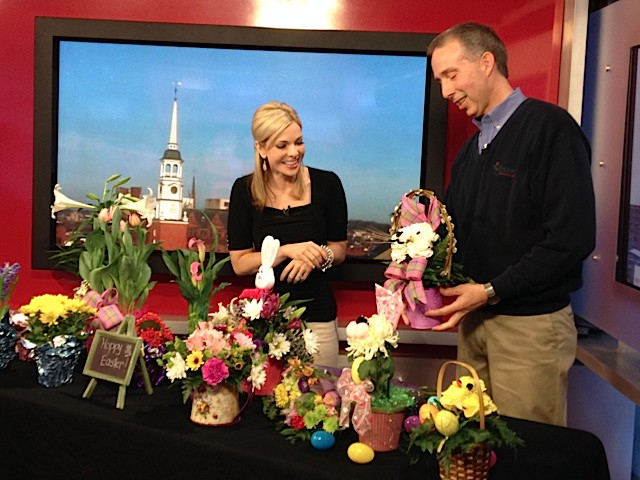 Fox 43 Morning News' Amy Lutz and Royer's Barry Spengler.