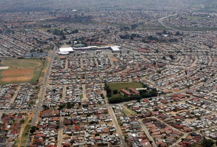 Arial view of Soweto