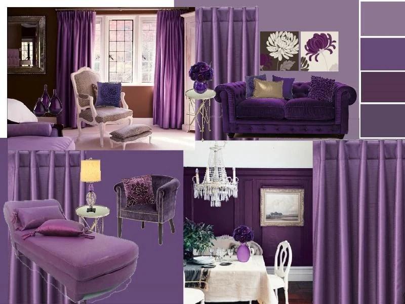 Living Room Design Creating A Purple Color Scheme