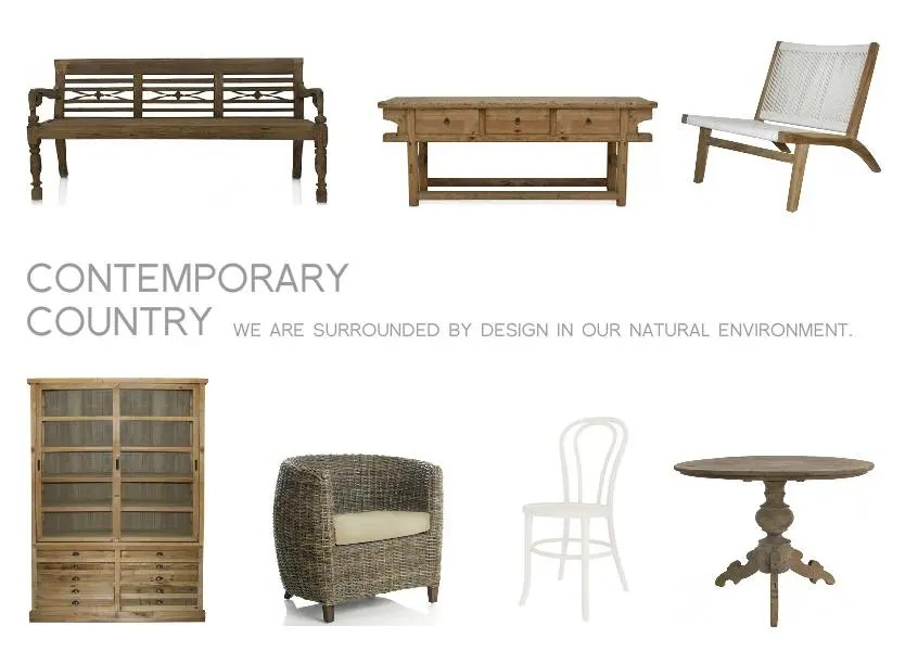 contemporary country mood board