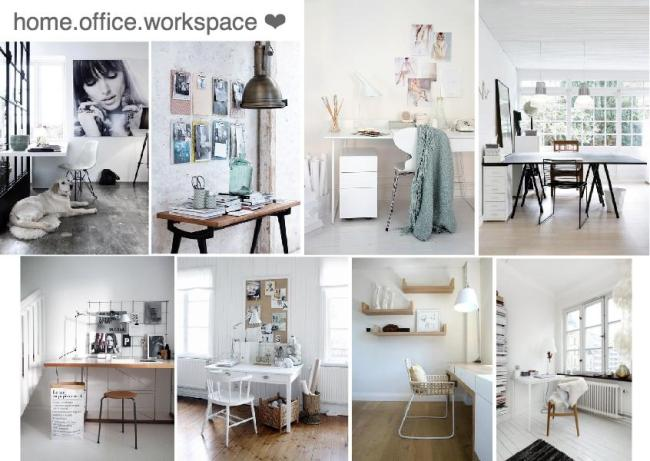scandinavian home office workspace mood board created on www.sampleboard.com