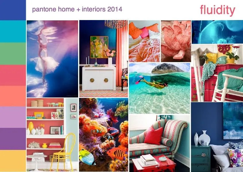 pantone color trend fluidity interior design mood board