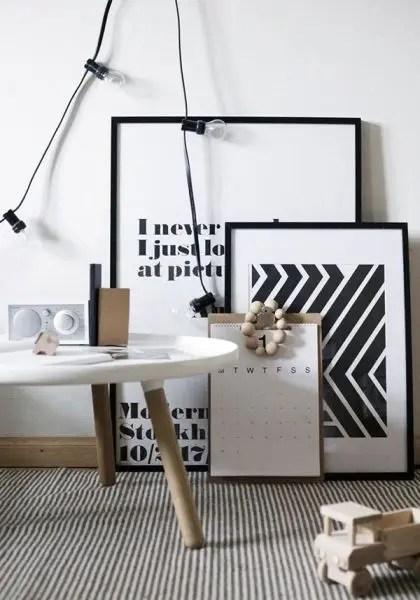 heimelig-shop - wild stripes by rk design weekday carnival art print black and white poster wild stripes - SampleBoard Blog