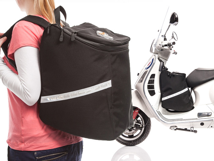 travel bag leg shield bag for vespa gt gtl gtv gts scooter center blog pure scootering. Black Bedroom Furniture Sets. Home Design Ideas