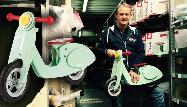 Rollerfahrer Geschenkidee – Vespa Laufrad