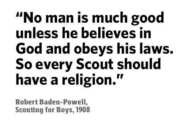 About the 'belief in God' requirement in Scouting