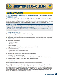 Pack-meeting-plan-sample-page