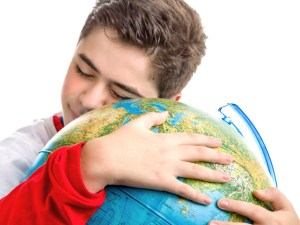 Scout-hugging-earth