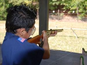 SHOOTING AT THE BSA CUB WORLD AT BERT ADAMS SCOUT RESERVATION