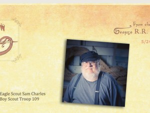 George R R Martin Eagle Scout letter featured