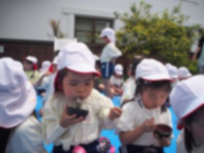 幼稚園児の餅米田植え~田植えが終わったらあんこ餅をたべます~