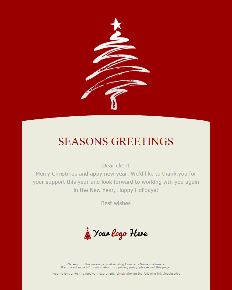 christmas email template free