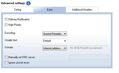 extra tab - sendblaster advanced settings