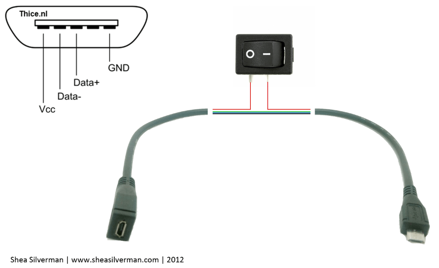 usb power cord diagram