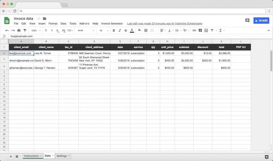 How to create an Invoice Generator - Blog Sheetgo