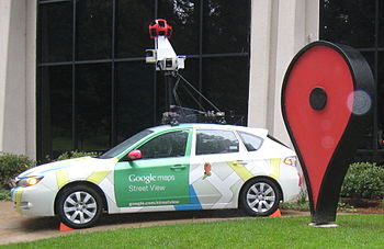 English: A Google Street View Camera Car (2008...