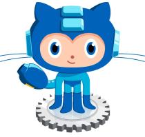 GitHub Game Jam 2012 image of GitHub mascot in Mega man outfit