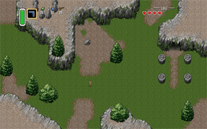 A game rendered using a responsive design approach