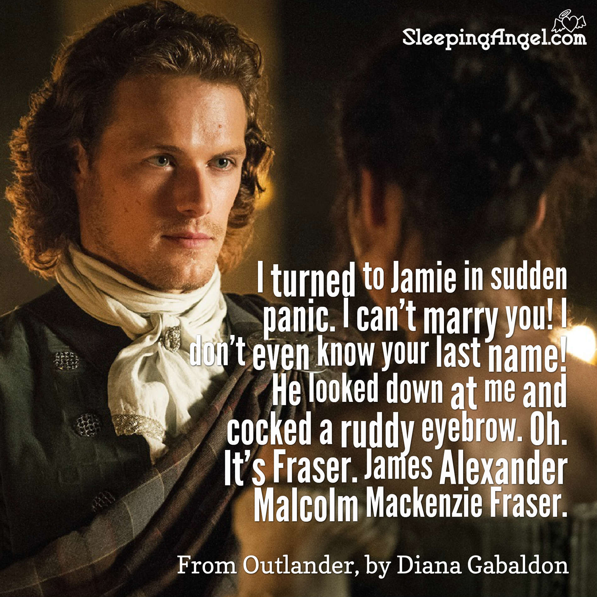 Diana Gabaldon Writer Dg Twitter Outlander Quote Sleeping Angel