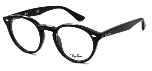 Round black Ray-Ban glasses