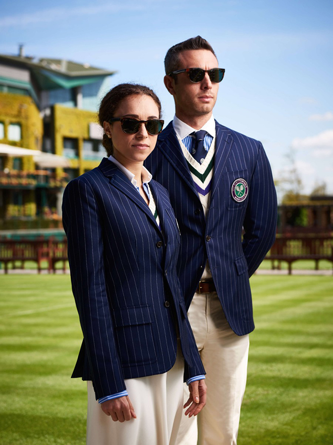 Wimbledon Umpires wearing  Ralph Lauren Polo Sunglasses