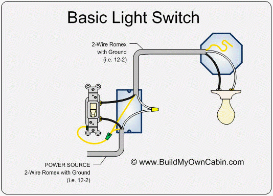 light switch electrical diagram
