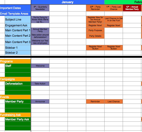 A Template for Calendaring Your Messaging - sample planning calendar