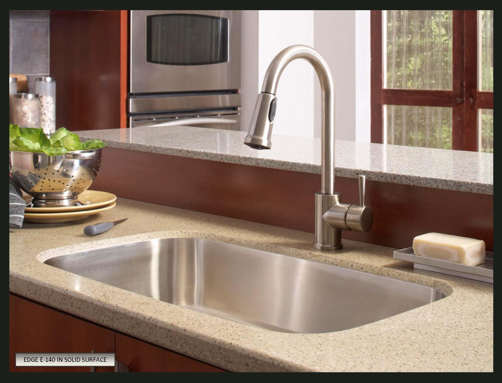 choose sink solid surface countertops white kitchen sink undermount Karran Undermount Stainless Steel Sinks