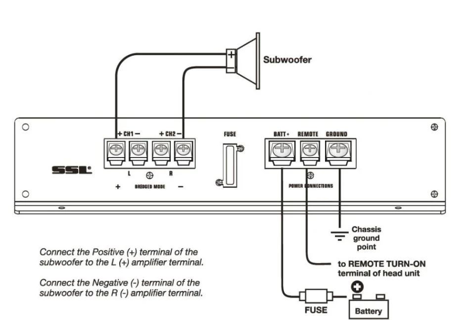 bridge 4 channel amp wiring diagram
