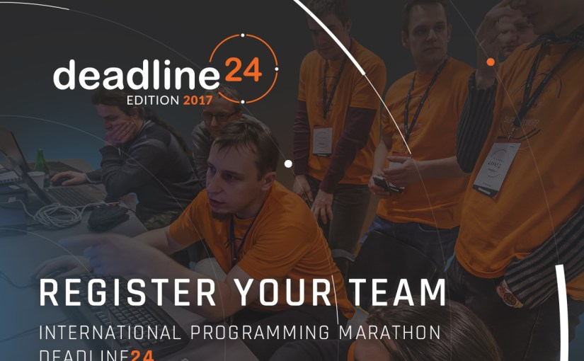 9th edition of Deadline24, an international programming marathon