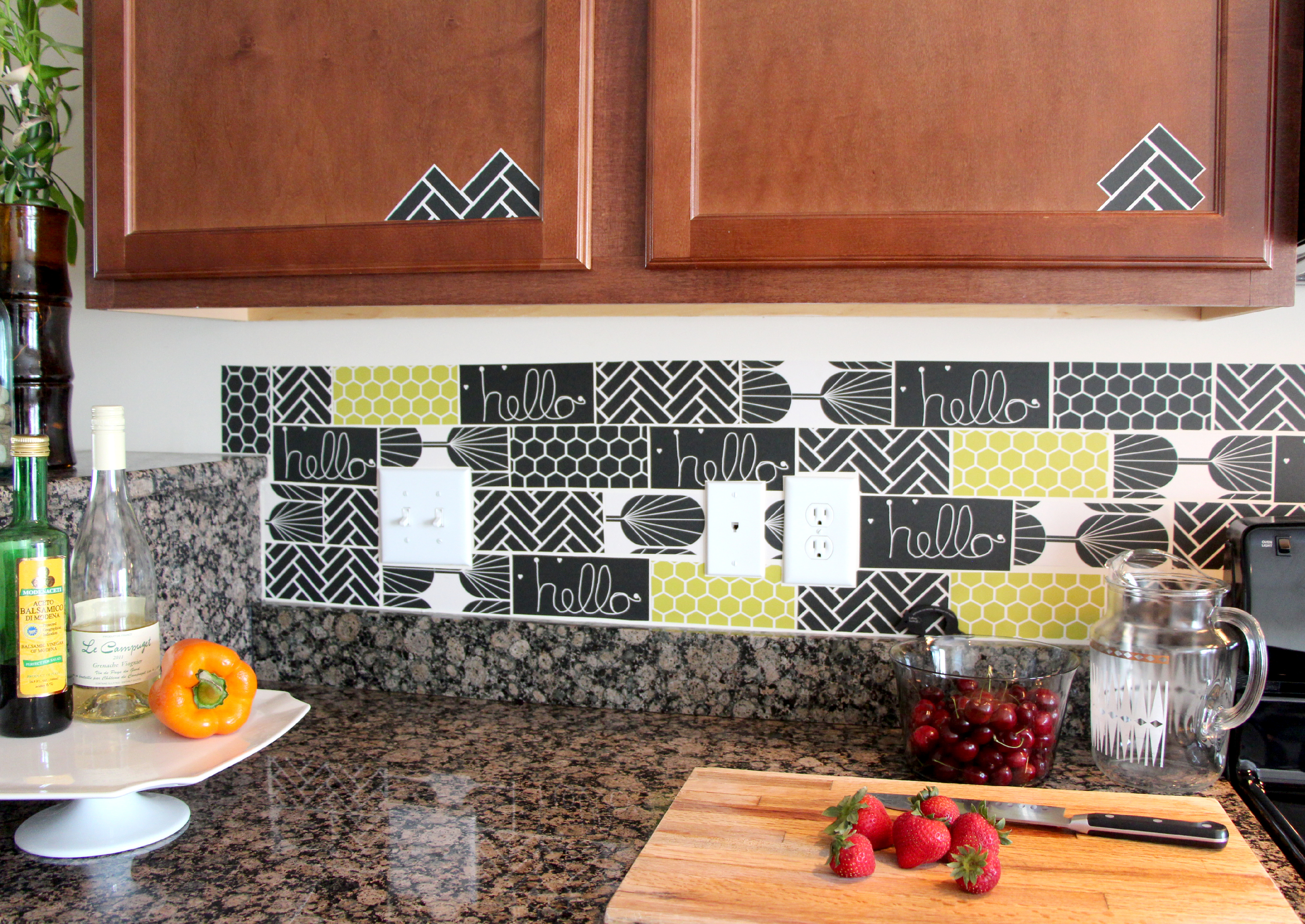 Peel And Stick Kitchen Tiles Tutorial Spoonflower Blog