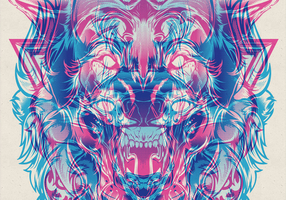 Showcase of Designs made with Cool Overprint Effects - cool designs