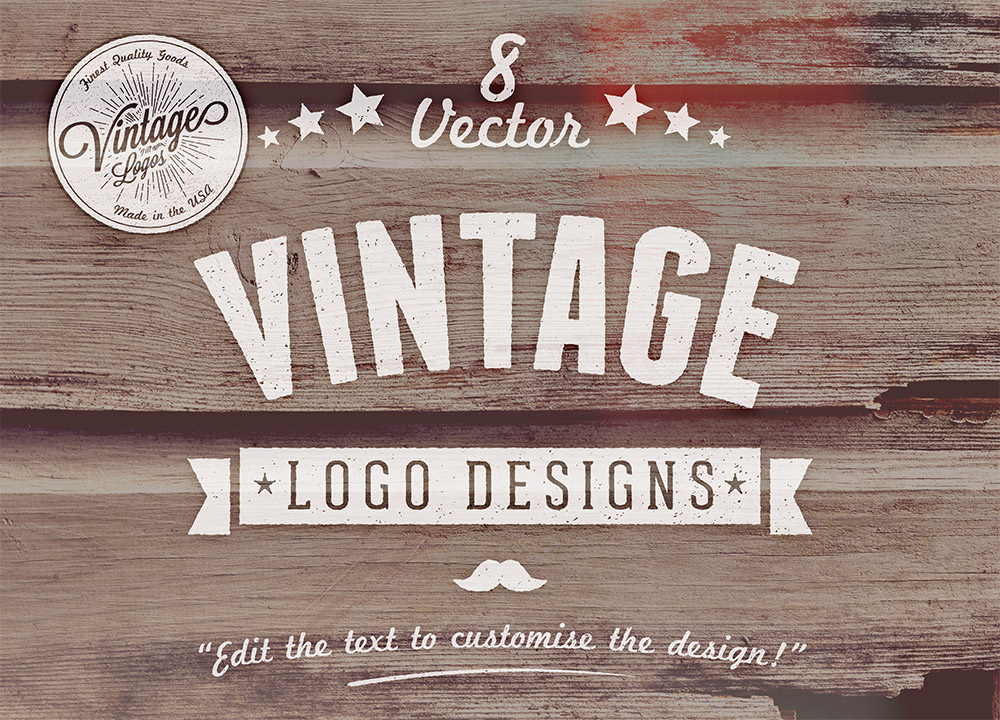 Vintage Design 8 Free Customizable Vector Vintage Style Logo Designs