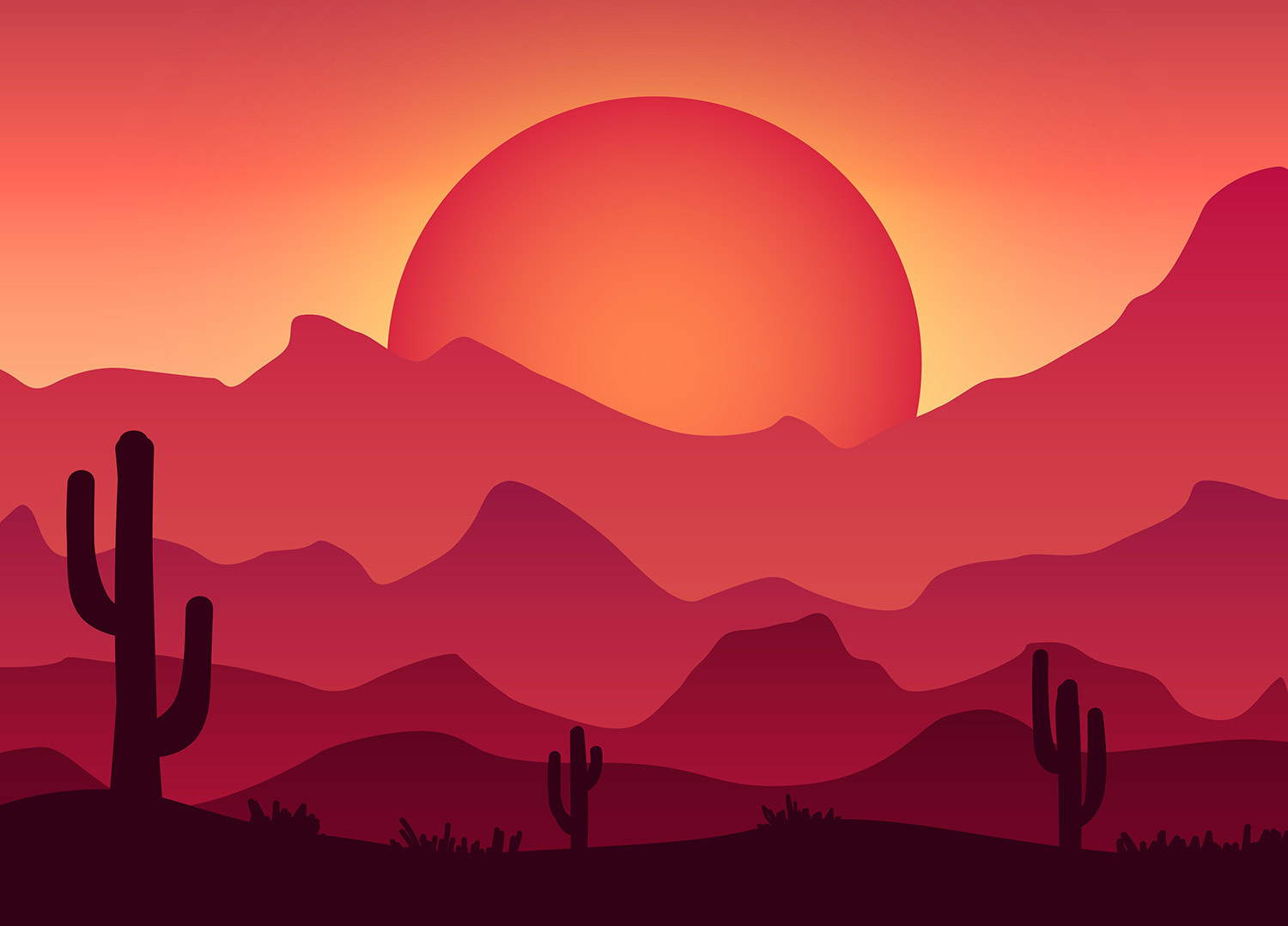 Android Phone Fall Wallpaper How To Create A Colorful Vector Landscape Illustration