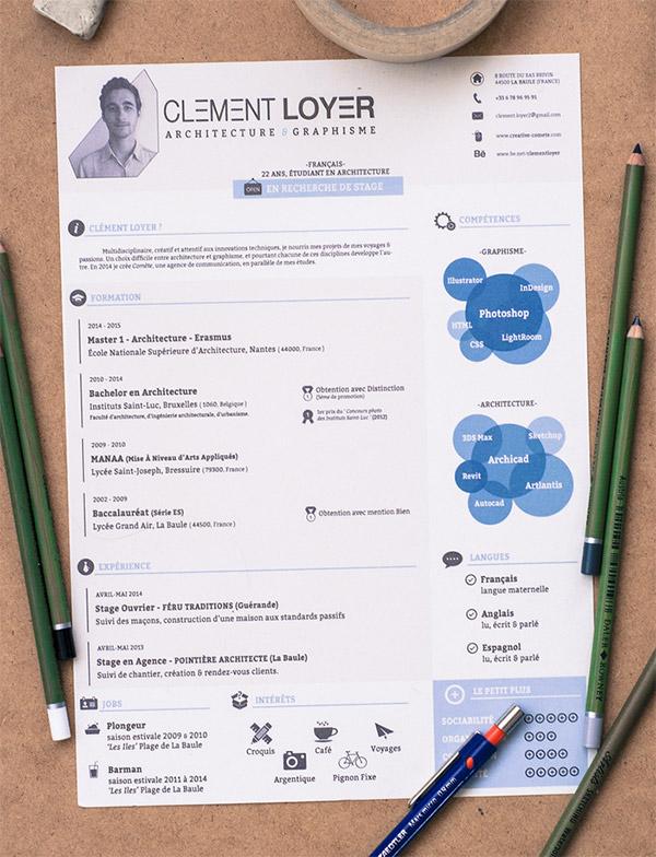 clement loyer cv template word