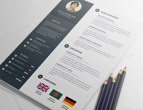 20 Free Editable CV/Resume Templates for PS  AI - Free Graphic Design Resume Templates