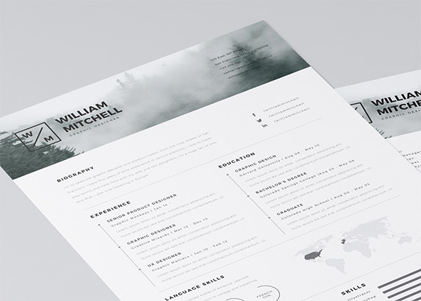 20 Free Editable CV/Resume Templates for PS  AI - clean resume design